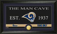 Los Angeles Rams Man Cave Bronze Coin Panoramic Photo Mint