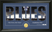 St. Louis Blues Silhouette Bronze Coin Panoramic Photo Mint