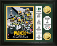 Super BowlxLV Champions 24KT Gold Coin Banner Photo Mint