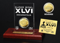 Super BowlxLVI 24KT Gold Flip Coin Desk Top Acrylic