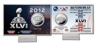 Super BowlxLVI Silver Flip Coin Card