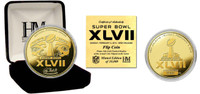 Super BowlxLVII Gold Flip Coin