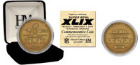 Super Bowl 49 Bronze Flip Coin