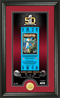 Tampa Bay Buccaneers Super Bowl 50th Anniversary Bronze Coin Supreme Photo Mint