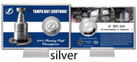 Tampa Bay Lightning Stanley Cup History Silver Coin Card
