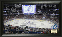 *Tampa Bay Lightning Team Signature Rink Framed LE