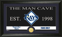 Tampa Bay Rays The Man Cave Bronze Coin Panoramic Photo Mint