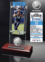 Jake Locker Ticket & Minted Coin Acrylic Desk Top