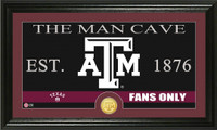 Texas A&M University Man Cave Bronze Coin Panoramic Photo Mint