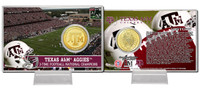 Texas A&M University Bronze Coin Card