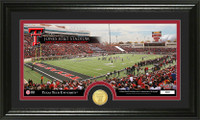 Texas Tech University Stadium Bronze Coin Panoramic Photo Mint