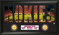 Virginia Tech Word Art Bronze Coin Panoramic Photo Mint