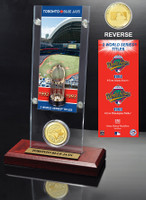 Toronto Blue Jays World Series Ticket & Bronze Coin Acrylic Desktop