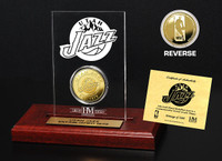Utah Jazz  24KT Gold Coin Etched Acrylic
