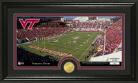 Virginia Tech Stadium Bronze Coin Panoramic Photo Mint