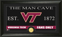 Virginia Tech University Man Cave Bronze Coin Panoramic Photo Mint