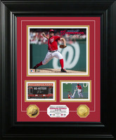 Jordan Zimmerman No-Hitter Marquee Gold Coin Photo Mint