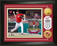 Max Scherzer No-Hitter Gold Coin Photo Mint