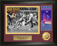 John Riggins Super Bowl 17 Ticket Gold Coin Photo Mint