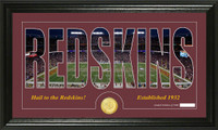 Washington Redskins Silhouette Bronze Coin Panoramic Photo Mint