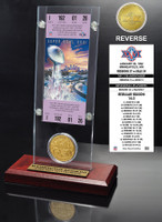 Super Bowl 26 Ticket & Game Coin Collection