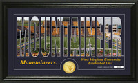 University of West Virginia Silhouette Bronze Coin Panoramic Photo Mint