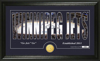 Winnipeg Jets Silhouette Bronze Coin Panoramic Photo Mint