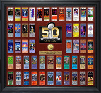*NFL Super Bowl Fifty 50th Anniversary Ticket Collection Gold Coin Photo Mint LE 500