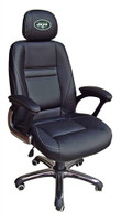 New York Jets Head Coach Leather Office Chair