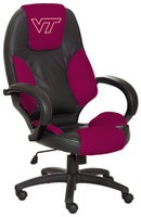Virginia Tech Hokies Commissioner Leather Office Chair