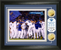 "Kansas City Royals 2015 AL Champions ""Celebration"" 2pc Gold Coin Photo Mint"