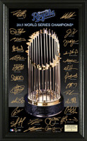 "Kansas City Royals 2015 World Series Champions ""Trophy"" Signature Framed LE 5000"
