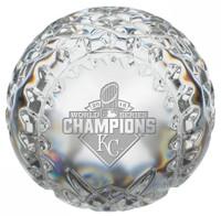 **Kansas City Royals 2015 World Series Champions Solid Crystal Baseball LE 5000