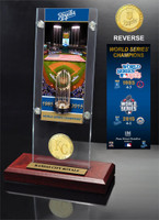 "*Kansas City Royals ""2-Time World Series Champions"" Ticket & Bronze Coin Acrylic Desktop Display"