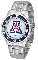 Arizona Wildcats Competitor Stainless Steel Watch (Men's or Women's)