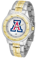 Arizona Wildcats Competitor 2-Tone 23k Gold Stainless Steel Watch (Men's or Women's)