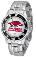 Arkansas Razorbacks Competitor Stainless Steel Watch (Men's or Women's)