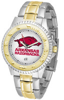 Arkansas Razorbacks Competitor 2-Tone 23k Gold Stainless Steel Watch (Men's or Women's)