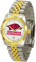 Arkansas Razorbacks Executive  2-Tone 23k Gold Stainless Steel Watch (Men's or Women's)