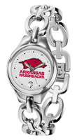 Arkansas Razorbacks Ladies Silver Eclipse AnoChrome Watch
