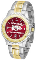 Arkansas Razorbacks Competitor 2-Tone 23k Gold AnoChrome Stainless Steel Watch (Men's or Women's)