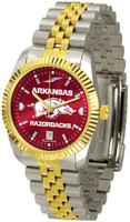 Arkansas Razorbacks Executive  2-Tone 23k Gold AnoChrome Stainless Steel Watch (Men's or Women's)