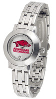 Arkansas Razorbacks Ladies Silver Stainless Steel Dynasty AnoChrome Watch