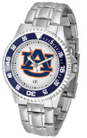 Auburn Tigers Competitor Stainless Steel Watch (Men's or Women's)
