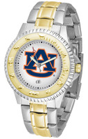 Auburn Tigers Competitor 2-Tone 23k Gold Stainless Steel Watch (Men's or Women's)
