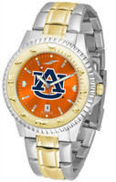 Auburn Tigers Competitor 2-Tone 23k Gold AnoChrome Stainless Steel Watch (Men's or Women's)