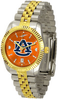 Auburn Tigers Executive  2-Tone 23k Gold AnoChrome Stainless Steel Watch (Men's or Women's)
