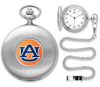 Auburn Tigers Silver Plated Pocket Watch
