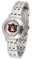 *Auburn Tigers Ladies Silver Stainless Steel Dynasty AnoChrome Watch