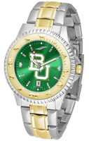 Baylor Bears Competitor 2-Tone 23k Gold AnoChrome Stainless Steel Watch (Men's or Women's)